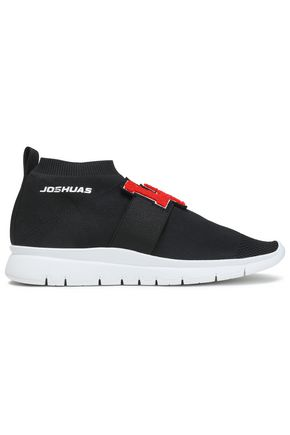 JOSHUA*S Appliquéd stretch-knit slip-on sneakers