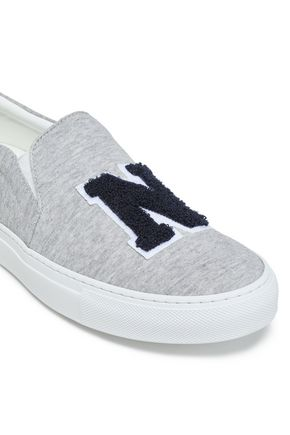 JOSHUA*S Appliquéd jersey slip-on sneakers