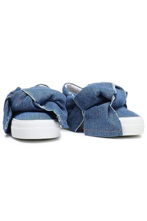JOSHUA*S Knotted denim slip-on sneakers