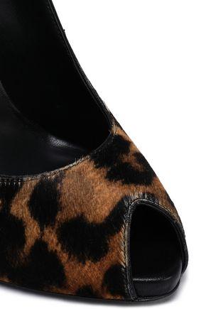 GIUSEPPE ZANOTTI Leopard-print calf hair pumps