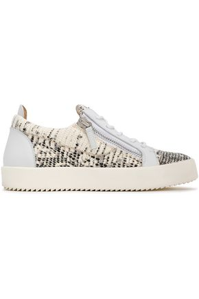 GIUSEPPE ZANOTTI Snake-effect leather sneakers