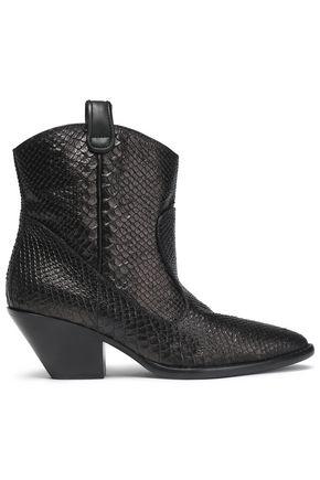 GIUSEPPE ZANOTTI Snake-effect leather boots