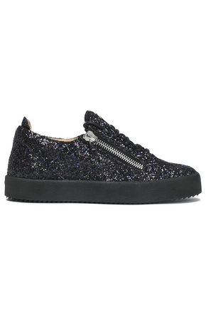 GIUSEPPE ZANOTTI Glittered leather sneakers