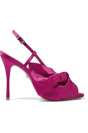 SCHUTZ Allina twisted satin sandals