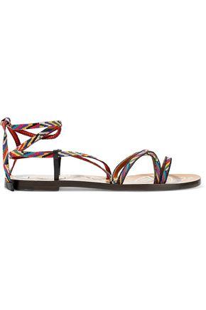 VALENTINO GARAVANI Embroidered woven sandals