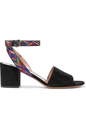 VALENTINO | Valentino Garavani Embroidered Suede Sandals | Goxip