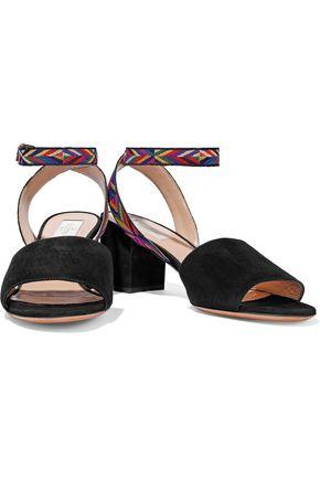 VALENTINO GARAVANI Embroidered suede sandals