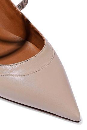 VALENTINO GARAVANI Love Latch eyelet-embellished leather pumps