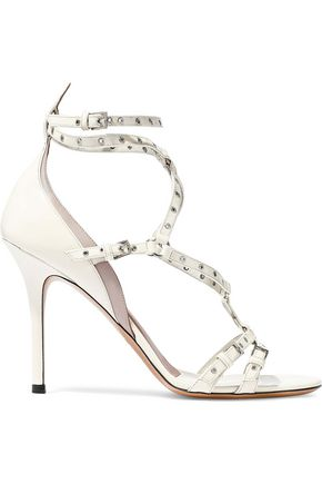 9f0566d4db VALENTINO GARAVANI Cutout embellished patent-leather sandals
