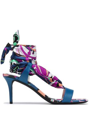 EMILIO PUCCI Printed leather sandals