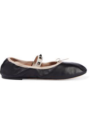 VALENTINO GARAVANI Studded leather ballet flats