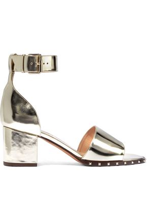 VALENTINO GARAVANI Soul Rockstud mirrored-leather sandals