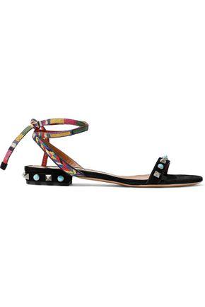 VALENTINO GARAVANI Embellished suede sandals