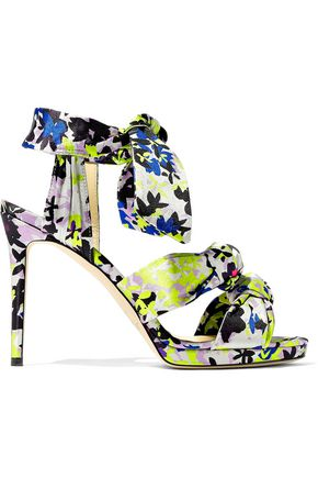 aa5f9ccc613 JIMMY CHOO Kris knotted printed satin sandals