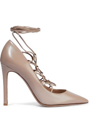 VALENTINO GARAVANI Rockstud lace-up leather pumps