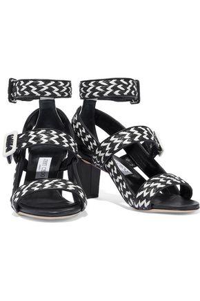 JIMMY CHOO Maya 65 two-tone woven leather sandals