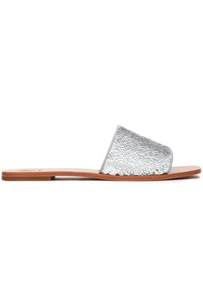 TORY BURCH Sequined knitted slides