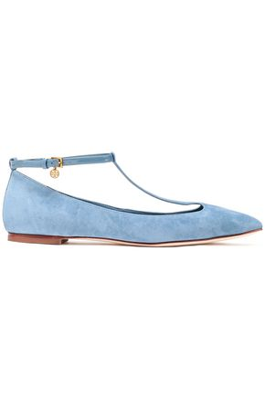 TORY BURCH Suede point-toe flats