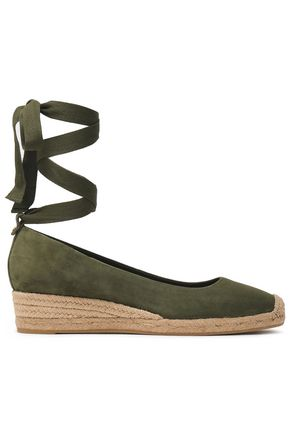 TORY BURCH Suede wedge espadrilles