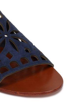 TORY BURCH Laser-cut suede sandals