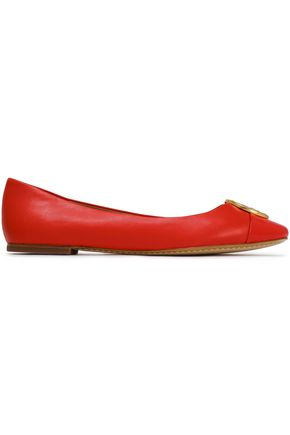 TORY BURCH Chelsea embellished leather ballet flats