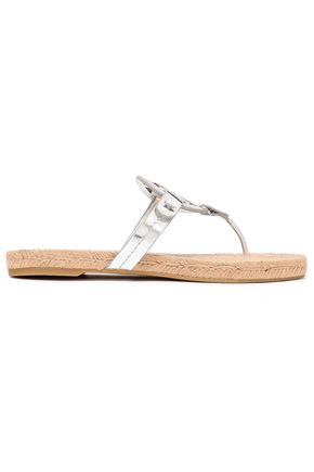 TORY BURCH Mirrored-leather sandals
