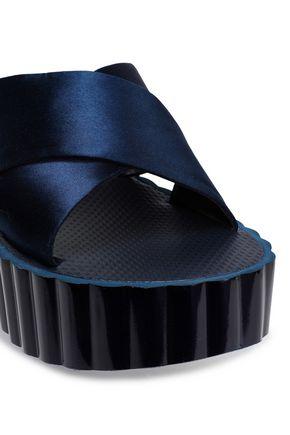 TORY BURCH Satin platform sandals