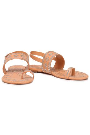 bcdf3900b TORY BURCH Embroidered leather sandals