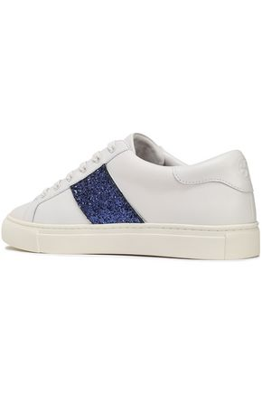 TORY BURCH Embellished leather sneakers