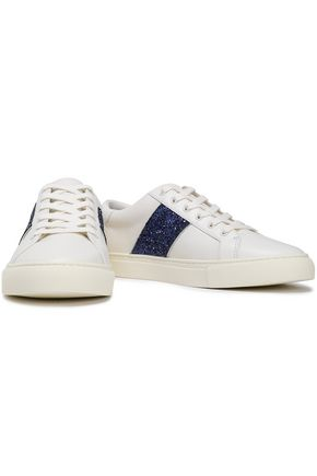 dce6ca1ee8a777 TORY BURCH Embellished leather sneakers