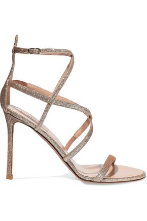 VALENTINO GARAVANI Glam glittered leather sandals