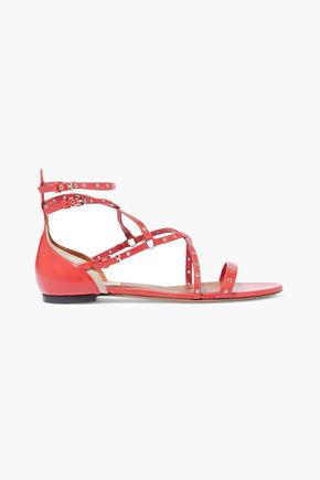 VALENTINO GARAVANI Embellished leather sandals