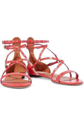 VALENTINO GARAVANI Love Latch eyelet-embellished leather sandals