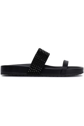 5211bc005660 DKNY Crystal-embellished leather sandals