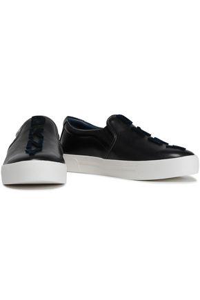eadf8fe4b71 DKNY Flocked faux leather slip-on sneakers