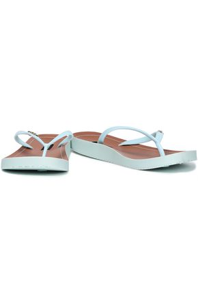 DKNY Madi faux leather flip flops