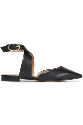 MAJE Leather point-toe flats