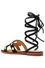 MAJE Fiou cutout studded suede sandals