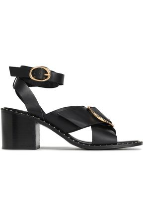 MAJE Buckle-embellished leather sandals