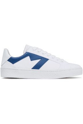 MAJE Leather-trimmed canvas sneakers