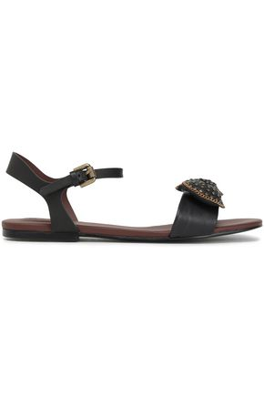 SEE BY CHLOÉ Bow-embellished studded leather sandals