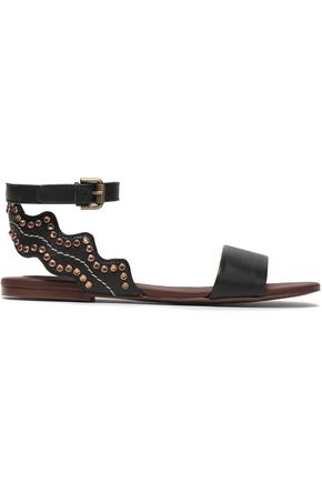 SEE BY CHLOÉ Crystal-embellished leather sandals