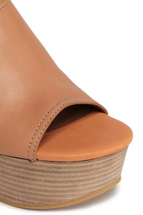 SEE BY CHLOÉ Studded leather platform mules
