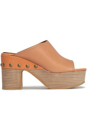 SEE BY CHLOÉ Leather platform mules