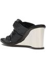 STELLA McCARTNEY Knotted faux leather wedge sandals