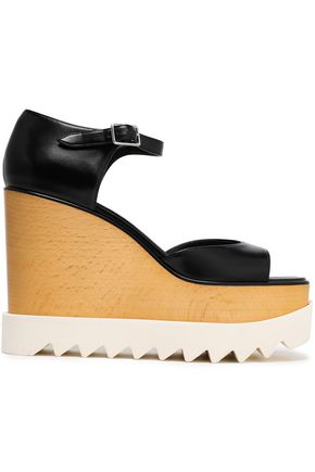 STELLA McCARTNEY Faux leather wedge sandals