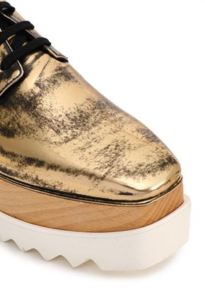 STELLA McCARTNEY Bideford metallic burnished faux leather brogues