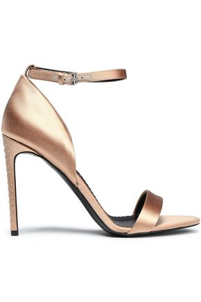 STELLA McCARTNEY Metallic satin sandals