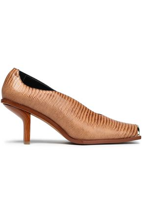 STELLA McCARTNEY Embellished faux croc-effect leather pumps