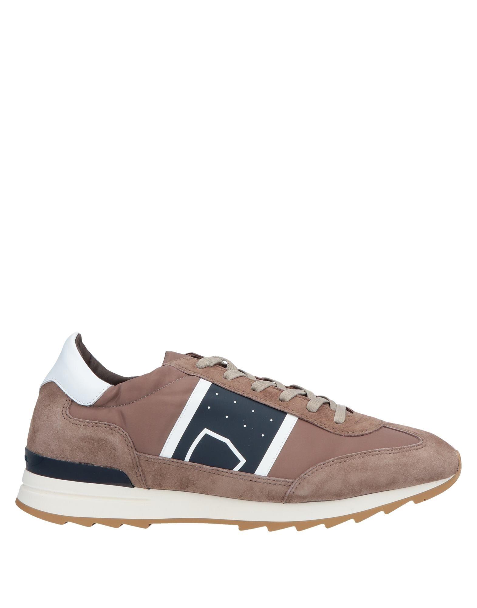 《セール開催中》PHILIPPE MODEL メンズ スニーカー&テニスシューズ(ローカット) ライトブラウン 39 革 / 紡績繊維